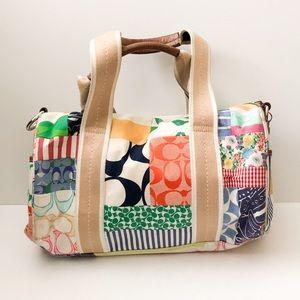 Coach Patchwork Scribble tote purse